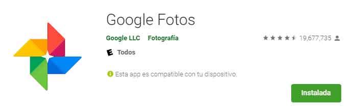 Google Fotos en Play Store